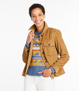 Women's Signature Wide-Wale Shirt Jacket