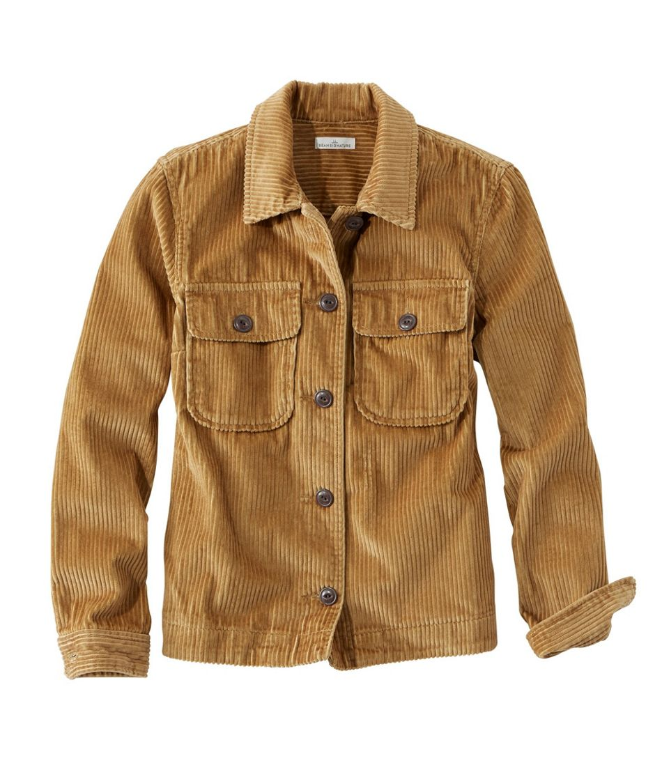 Signature Wide-Wale Shirt Jacket