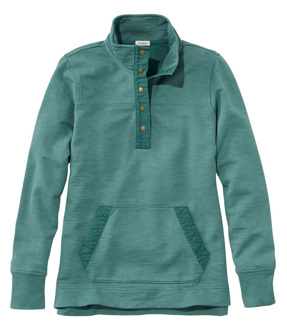 Rocky Coast Sweatshirt, Snap Henley