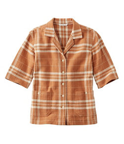 Women's Signature Cool Weave Camp Shirt, Pattern