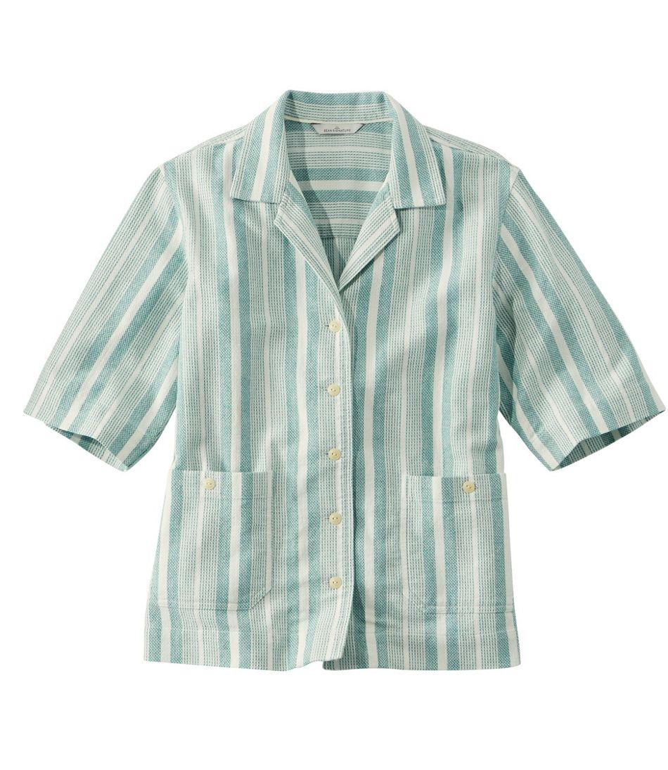 Women's Signature Cool Weave Camp Shirt, Pattern