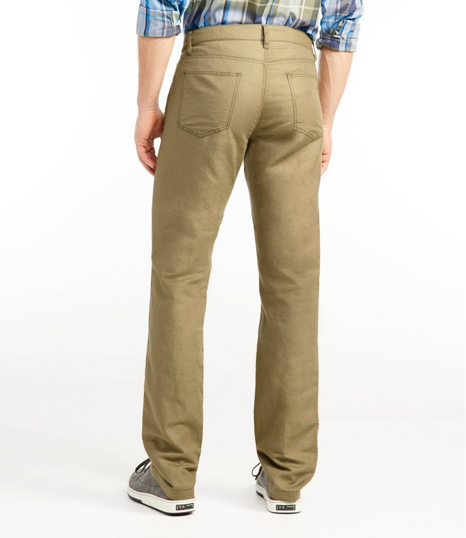 Signature Linen/Cotton Five-Pocket Pants
