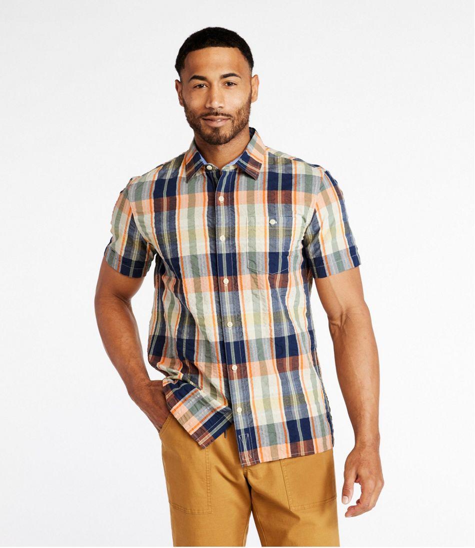 Men's Signature Seersucker Shirt, Short-Sleeve