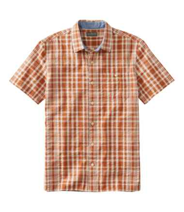 Men's Signature Seersucker Shirt, Short-Sleeve