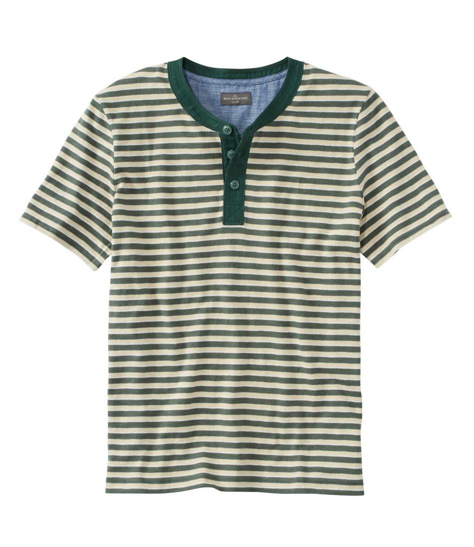 Signature Slub Henley, Short-Sleeve, Stripe