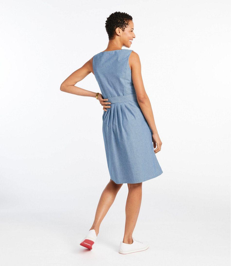 Signature V-Neck Chambray Dress