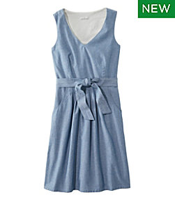 Women's Signature V-Neck Chambray Dress Misses Regular