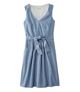 Women's Signature V-Neck Chambray Dress