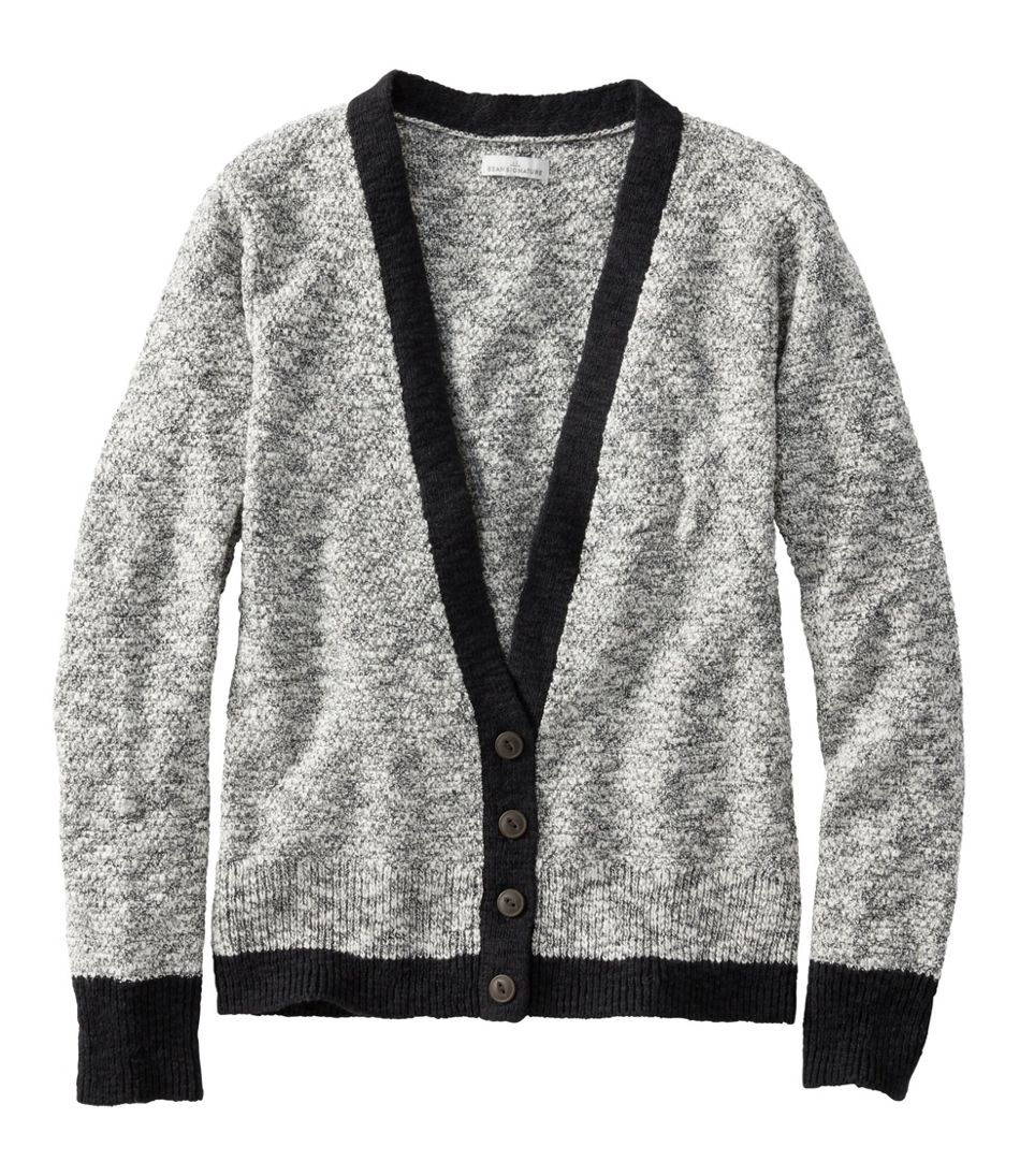 Women's Signature Cotton Linen Ragg Sweater, Cardigan