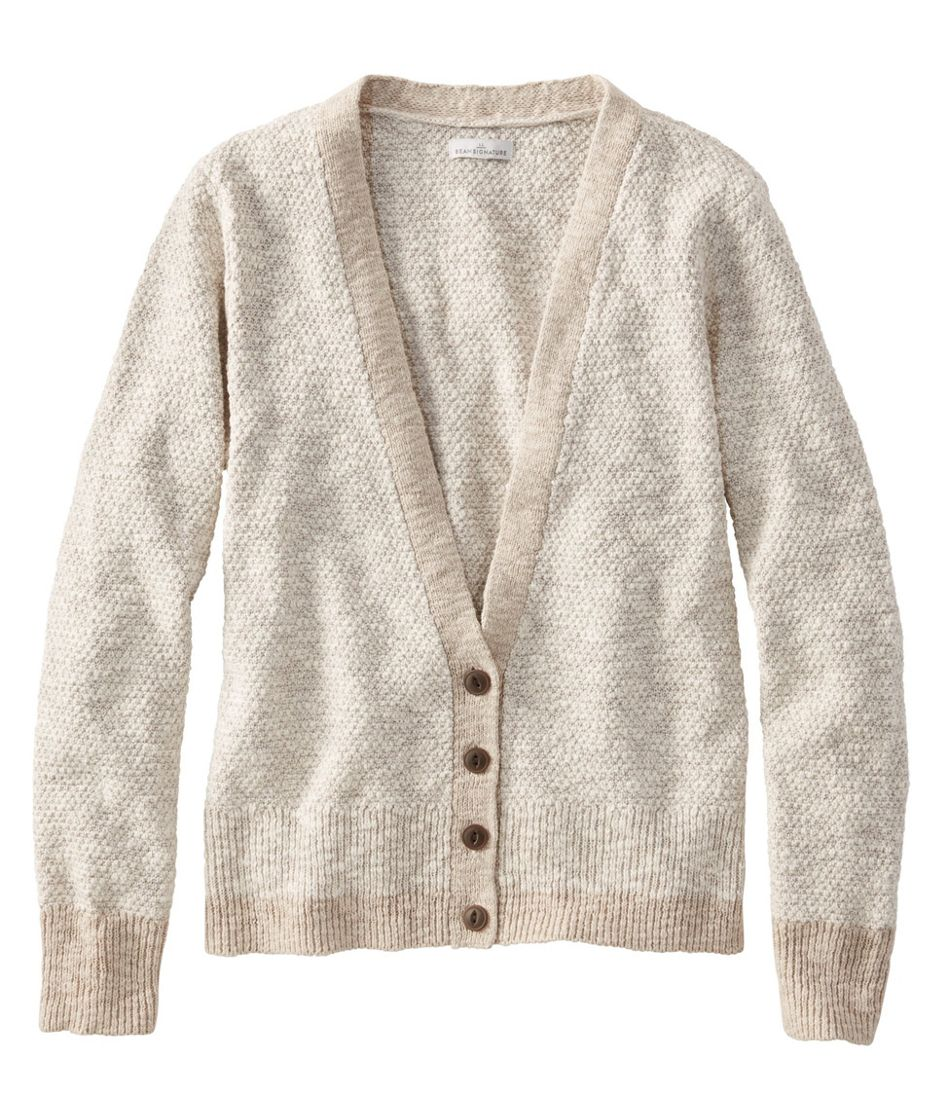 Women's Signature Cotton Linen Ragg Sweater, Cardigan