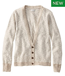 Signature Cotton/Linen Ragg Sweater, Cardigan