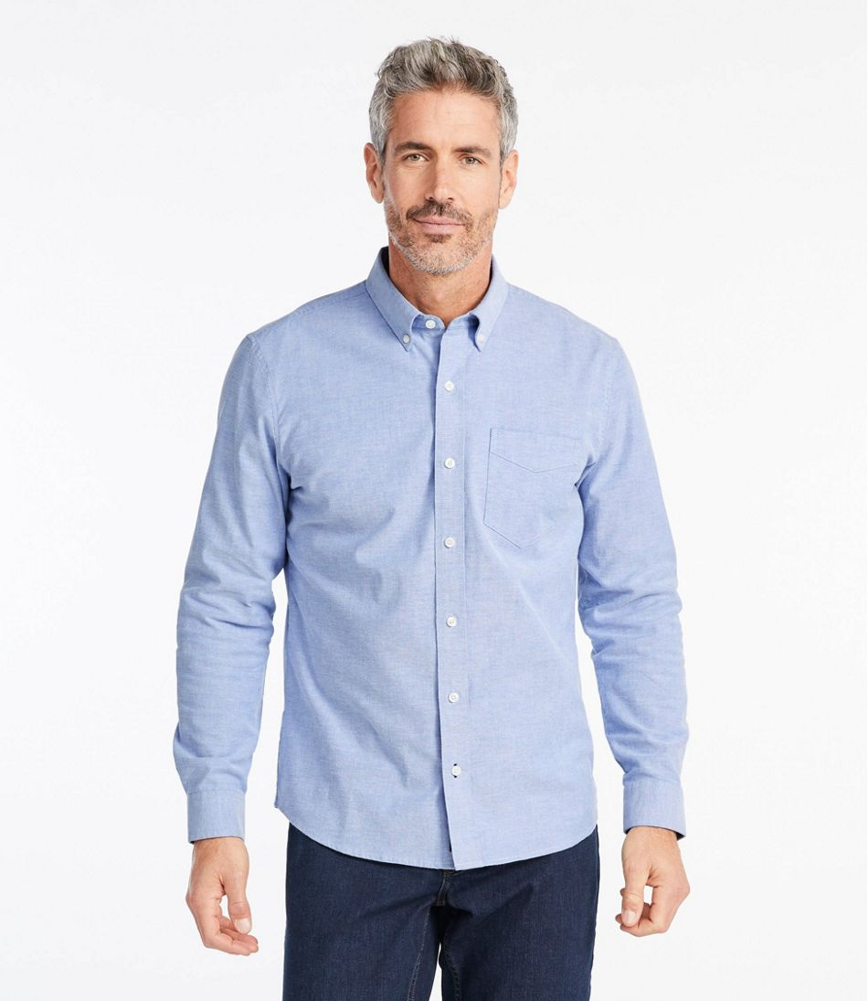 Comfort Stretch Oxford Shirt, Slightly Fitted, Solid