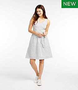 Women's Signature V-Neck Seersucker Dress Misses Regular