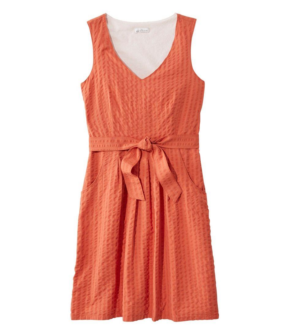 Signature V-Neck Seersucker Dress