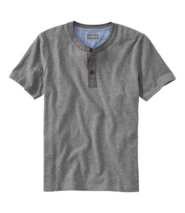 Men's Signature Slub Henley, Short-Sleeve