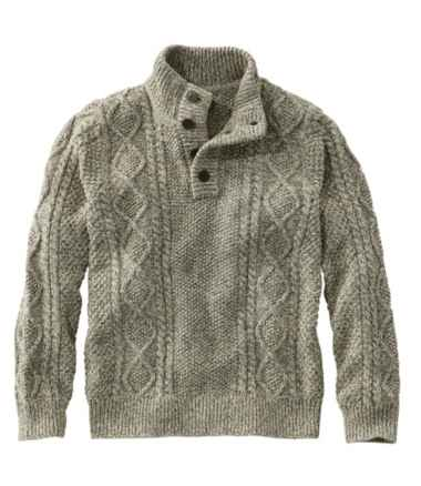 Signature Cotton Fisherman Sweater, Henley