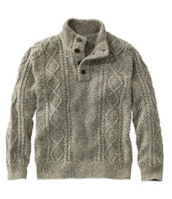 Men's Signature Cotton Fisherman Sweater, Henley