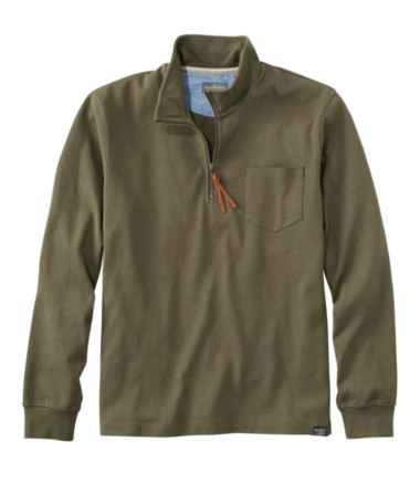 Men's Signature Rugged Quarter-Zip Stand-Up Polo
