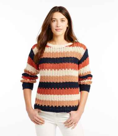 Women's Signature Bailey Island Cotton Sweater Stripe Misses Regular