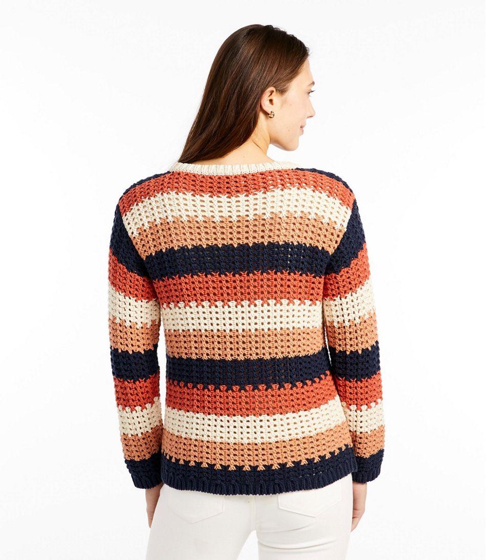 Women's Signature Bailey Island Cotton Sweater Stripe Misses Regular