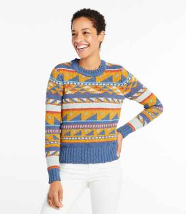 Women's Signature Cotton Slub Sweater, Pattern