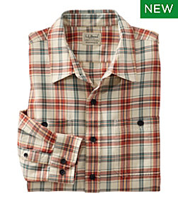 Lakewashed Twill Shirt, Traditional Fit, Plaid