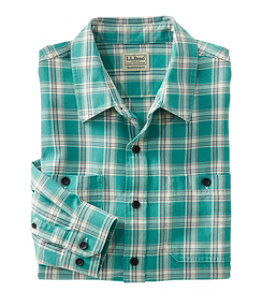 Men's Lakewashed Twill Shirt, Traditional Fit, Plaid Regular