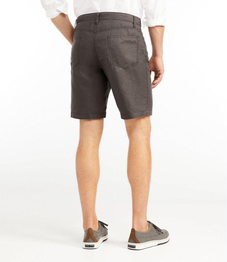 Signature Linen/Cotton Five-Pocket Shorts