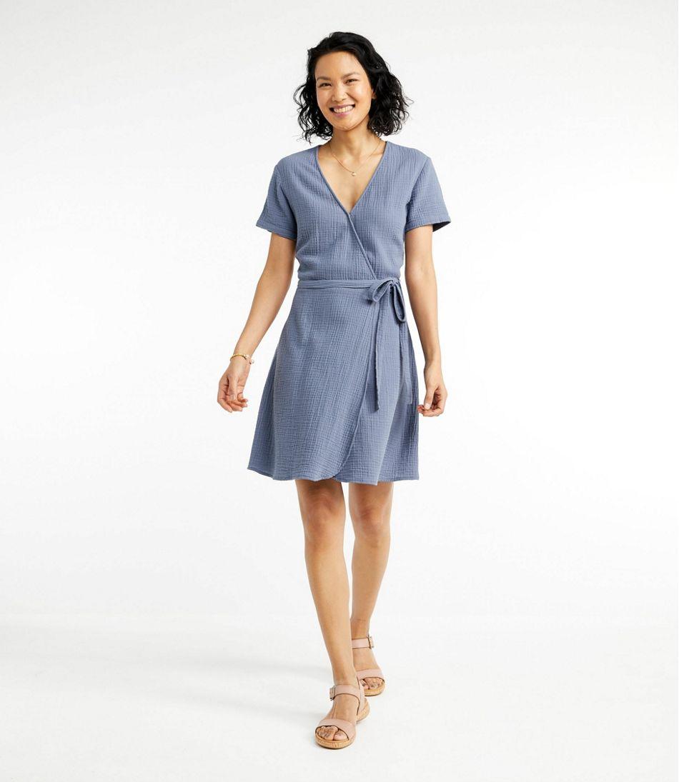 Women's Signature Gauzy Textured Wrap Dress