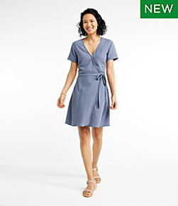 Women's Signature Gauzy Textured Wrap Dress