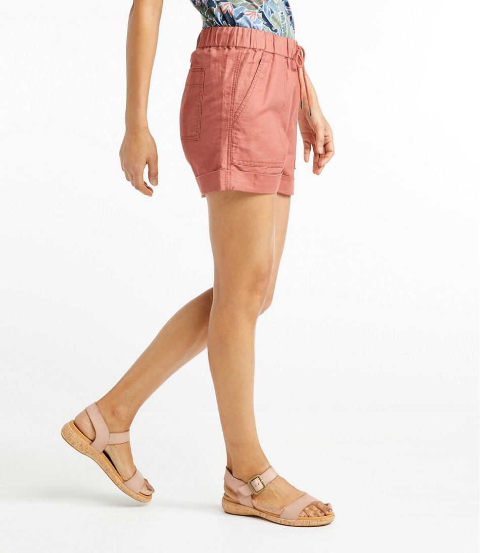 Women's Signature Linen Cotton Pull-On Shorts