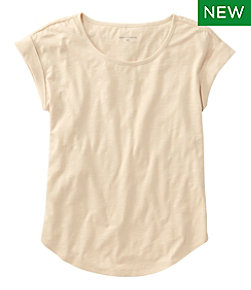 Women's Signature Slub Knit Tee, Scoopneck