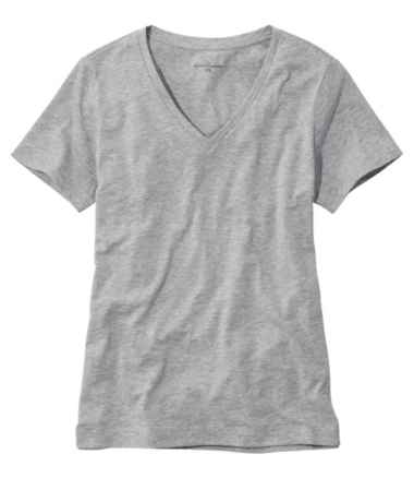 Women's Signature Slub-Knit Tee, V-Neck