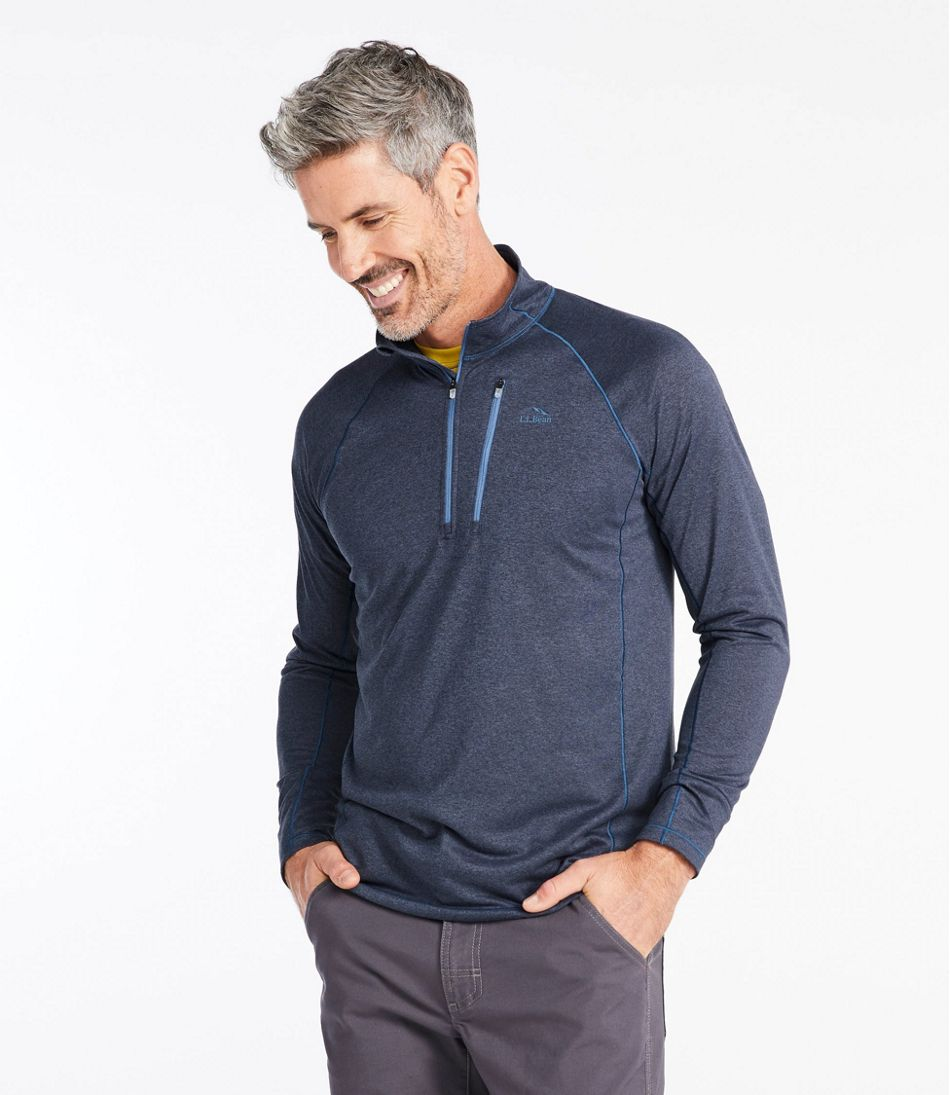 L.L.Bean Quick-Dry Trail Tee, Long-Sleeve, Quarter-Zip