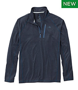 Men's Bean's Quick Dry Trail Tee 1/4 Zip Regular