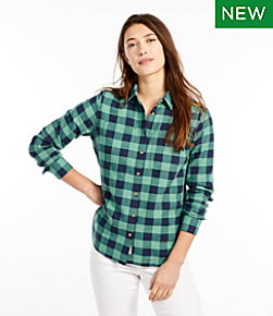 Women's L.L.Bean Heritage Washed Twill Shirt, Long-Sleeve Plaid
