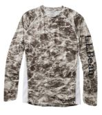 Men's Tropicwear Knit Crew Shirt, Long-Sleeve Print