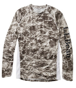 Men's Tropicwear Knit Crew Shirt, Long-Sleeve Print Regular