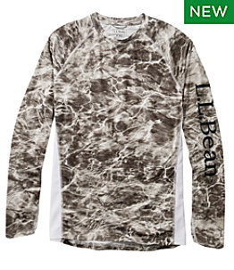 Men's Tropicwear Knit Crew Shirt, Long-Sleeve Print Regular