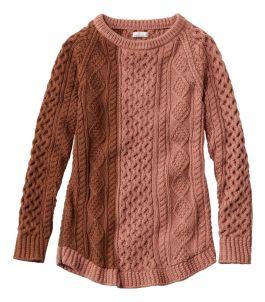 Women's Signature Cotton Fisherman Tunic Sweater, Colorblock