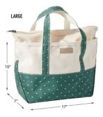High-Bottom Boat and Tote, Zip-Top,
