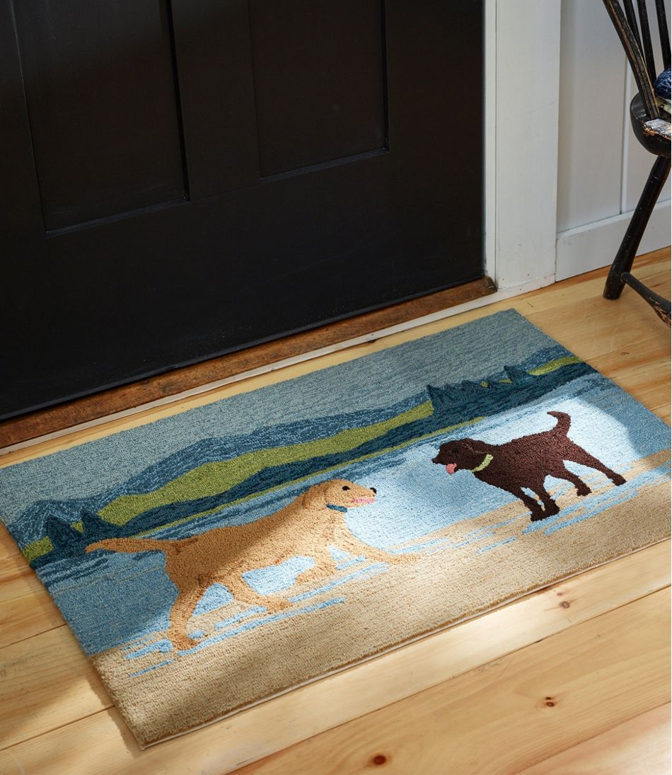 Indoor/Outdoor Vacationland Rug, Scenic Dogs