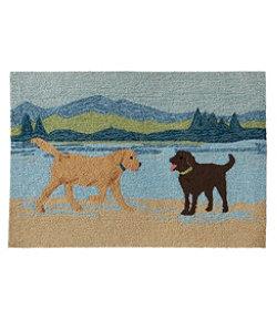 Indoor/Outdoor Vacationland Rug, Scenic Dogs