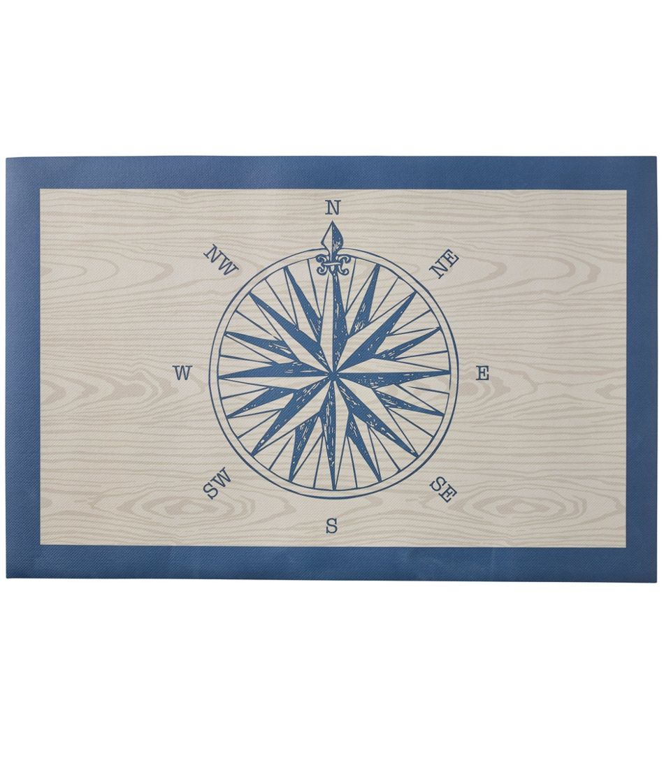 Easy Care Floor Cloth, Compass