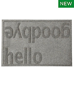 Everyspace Recycled Waterhog Doormat, Hello/Goodbye