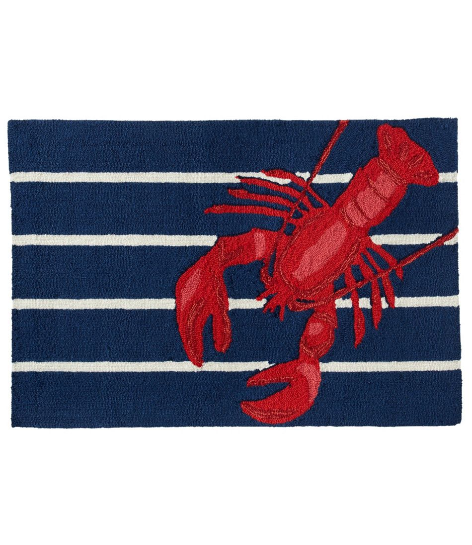 Indoor/Outdoor Vacationland Rug, Lobster