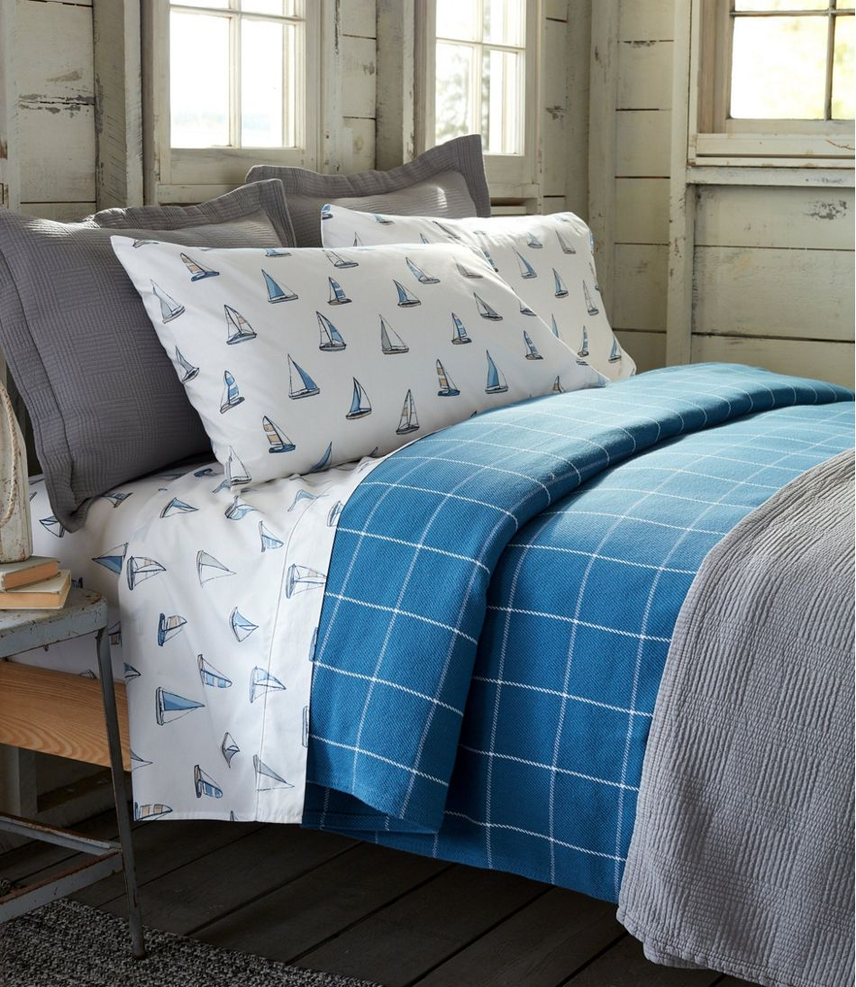 Sailboat Percale Sheet Collection