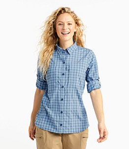 Women's Tropicwear Pro Stretch Shirt, Long-Sleeve Plaid