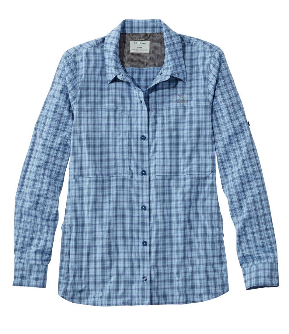 Women's Tropicwear Pro Stretch Shirt, Long-Sleeve Plaid