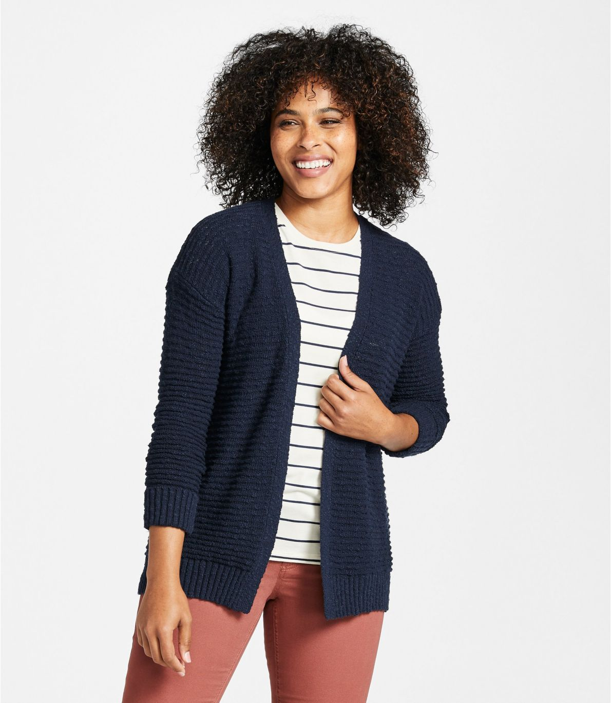 Women's Midweight Cotton Slub Cardigan